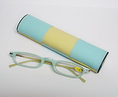 Mini Reading Glasses Green and Yellow Magic Case
