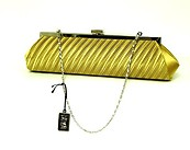 Gold Pleated Clutch Handbag